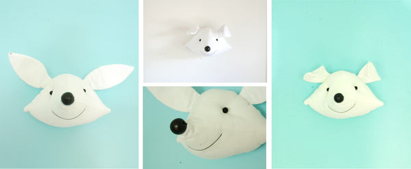 Atelier Caroline Faux Taxidermy Head White Fox