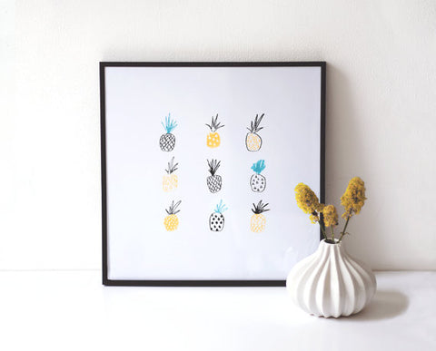 Pineapple Print by The Lovely Print