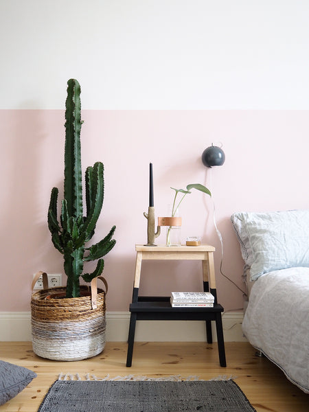 Pink Color Block Wall Bedroom by Craftifair