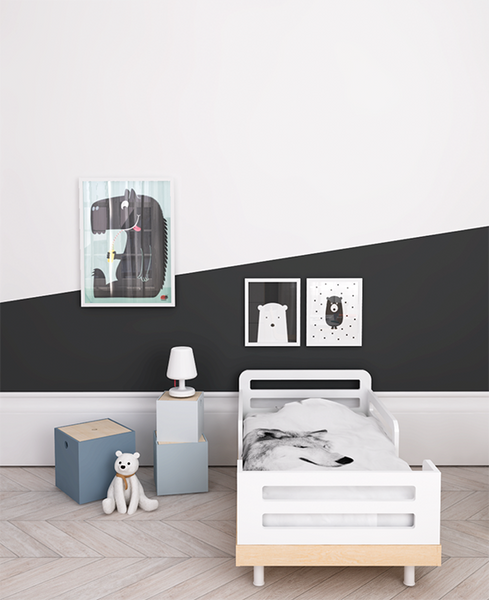 Color Block Wall Monochrome Kids by My Paradissi