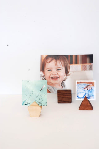 Geometric Photo Holders (Set of 3)