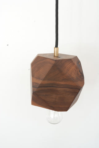 Walnut Geometric Pendant Lamp
