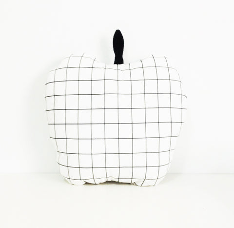 Grid Cushion - Apple