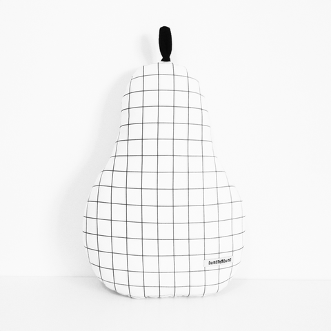 Grid Cushion - Pear
