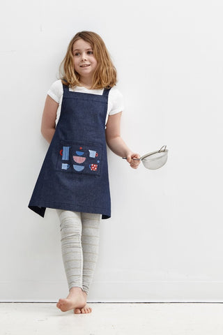 Kids Crossback Apron - Pans and Pots