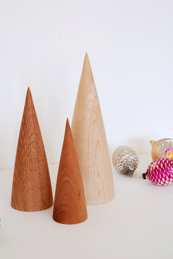 Minimalist Christmas Wooden Trees Handmade by La Fabrique Deco