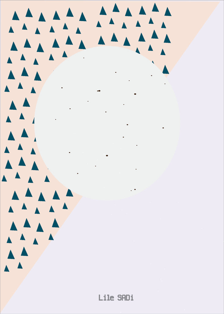 Poster Moon Forest 50x70 cm by Lilesadi closeup
