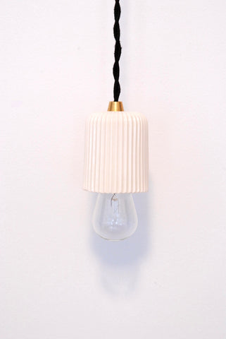 Ceramic Pendant Lamp - Pleated
