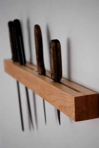 Maple Knife Rack