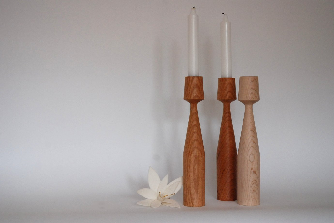 New in - AGATHE Handturned candlestick