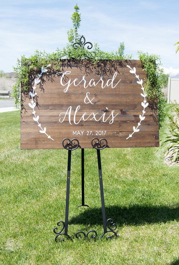 Wedding Welcome Sign - Wreath Collection