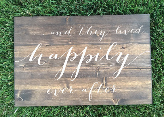 And They Lived happily Ever After Wedding Sign - Brighton Collection