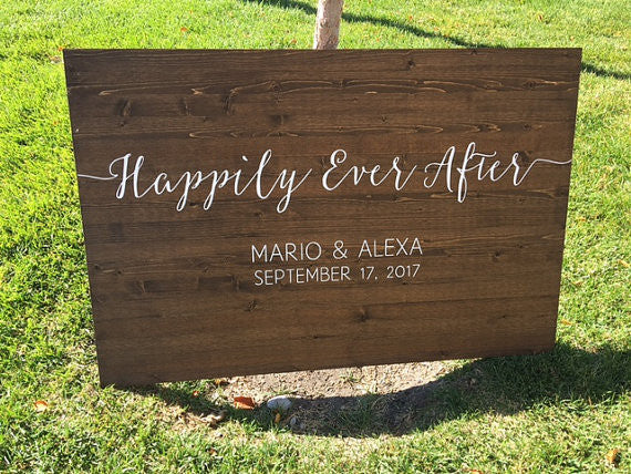 Happily Ever After Wedding Sign - Sophia Collection
