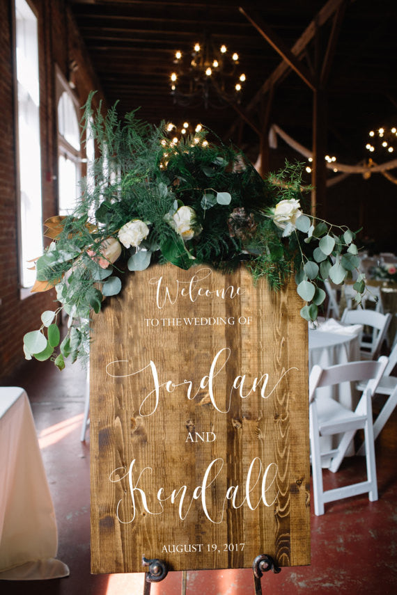 Wedding Welcome Sign - Victoria Collection