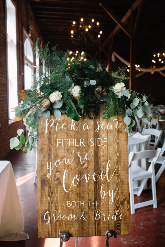 Pick A Seat Wedding Sign - Sophia Collection