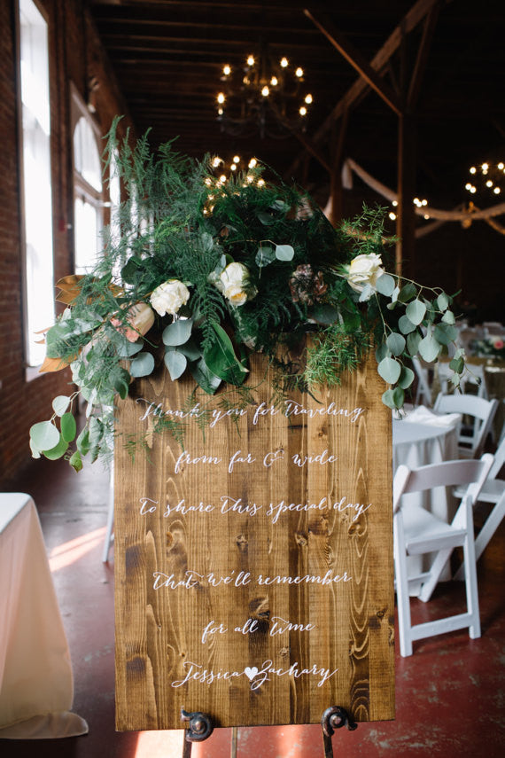 Thank You For Traveling Wedding Sign - Brighton Collection