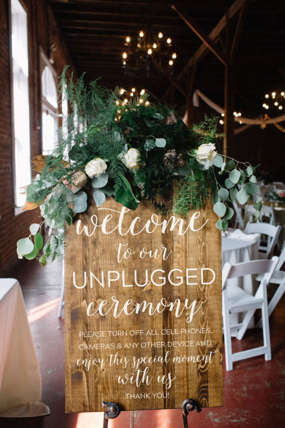 Unplugged Wedding Sign - Elizabeth Collection
