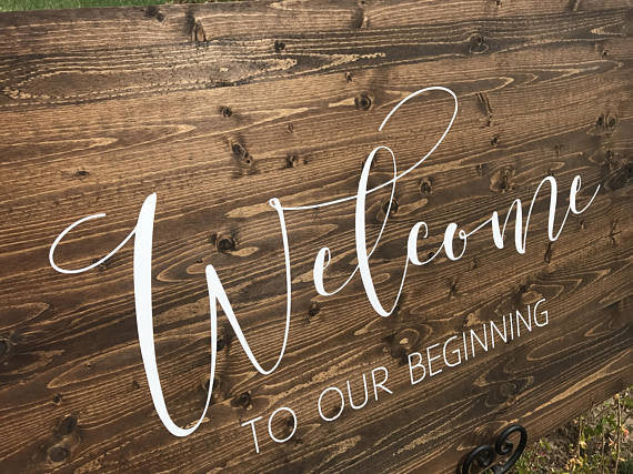 Welcome To Our New Beginning Wedding Sign - Victoria Collection