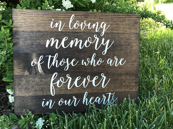 In Loving Memory Sign - Elizabeth Collection