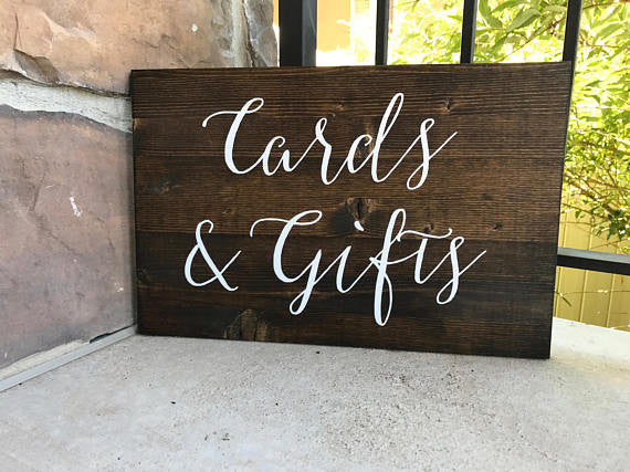 Cards & Gifts Table Sign - Sophia Collection