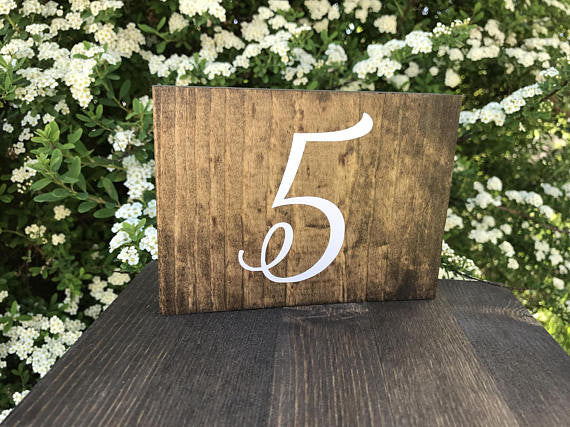 Double Sided Table Numbers - Elizabeth Collection