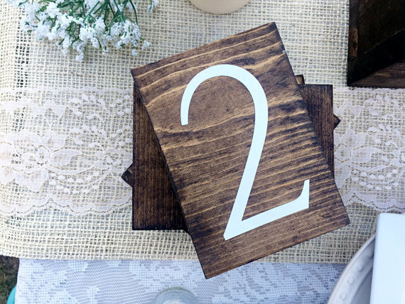 Double Sided Table Numbers Verticle - Simple Collection