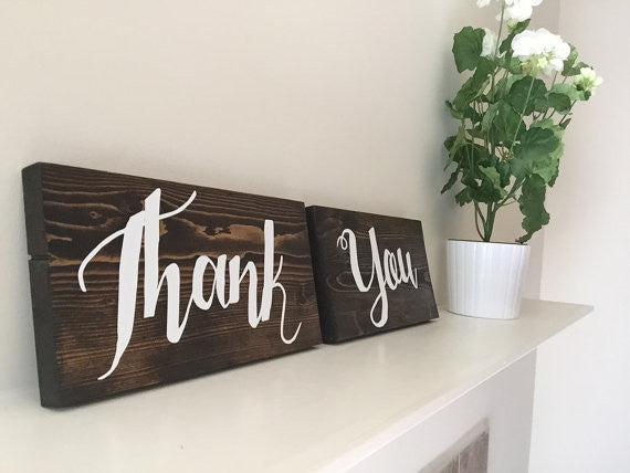 Thank You Wedding Signs - Diana Collection