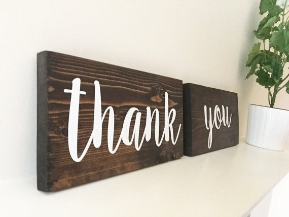 Thank You Wedding Signs - Jane Collection