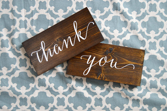 Thank You Wedding Signs - Sophia Collection