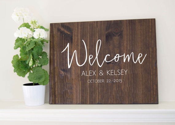Wedding Welcome Sign - Amelia Collection