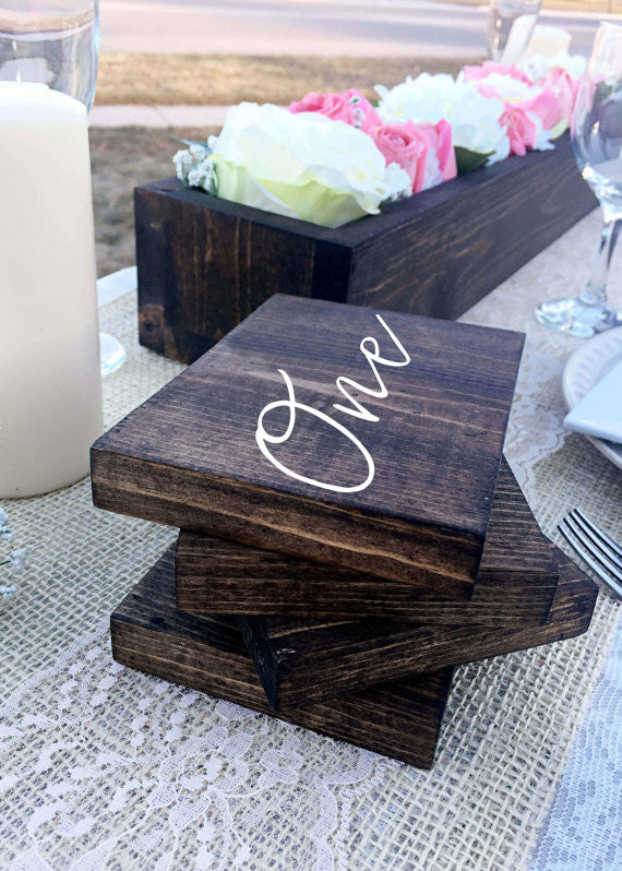 Double Sided Table Numbers - Amelia Collection