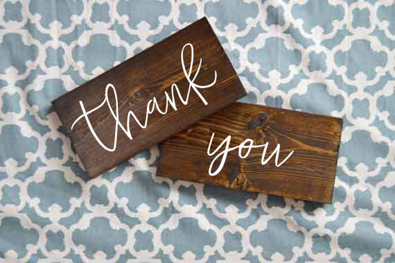 Thank You Wedding Signs - Amelia Collection
