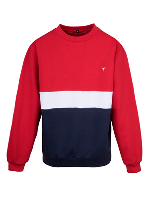 Atlantic Sweatshirt Red/White/Navy - Whale Of A Time Clothing