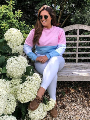 Thornham Long Sleeved T-Shirt White/Blue/Pink