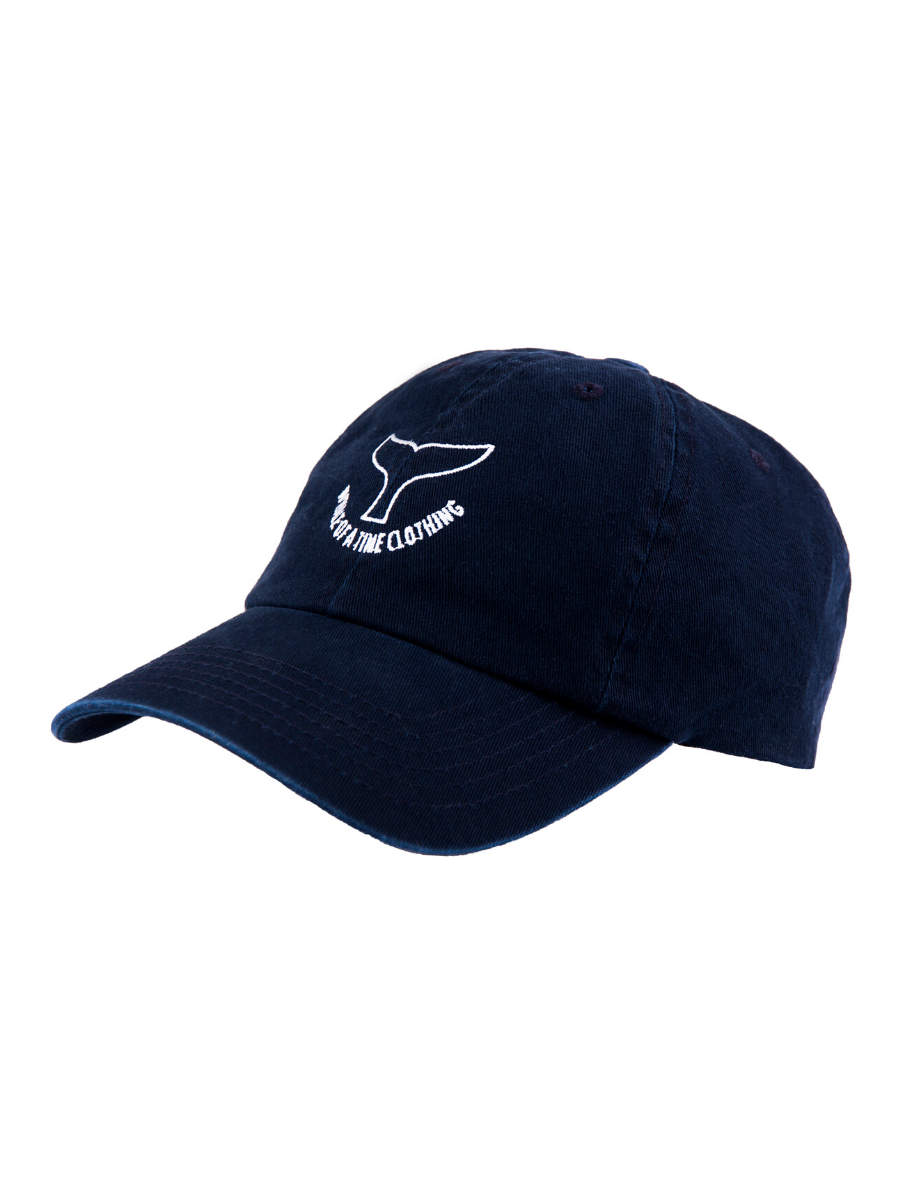 Stonewashed Cap Navy - Whale Of A Time Clothing