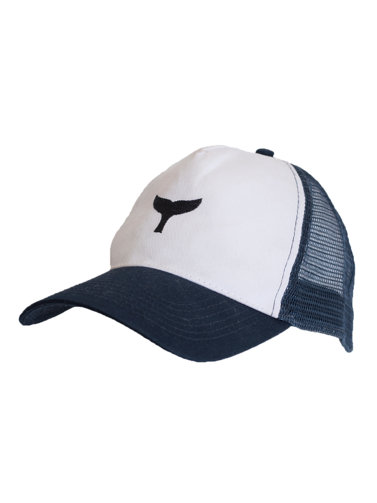 Trucker Cap White/Navy - Whale Of A Time Clothing