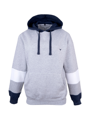 Kingsand Hoodie Grey/Navy/White - Whale Of A Time Clothing