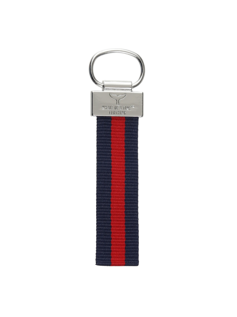 St. Ives Navy / Red Key Ring - Whale Of A Time Clothing