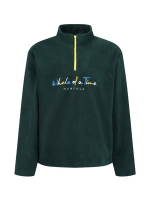 Basics Fleece Quarter Zips - Green - Whale Of A Time Clothing