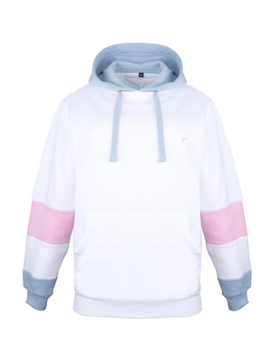 Kingsand Hoodie White/Blue/Pink - Whale Of A Time Clothing