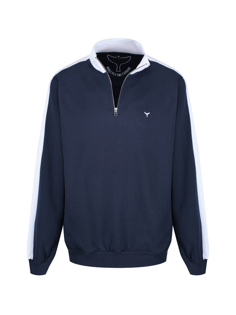Suffolk Quarter Zip Sweatshirt Red/Navy/White