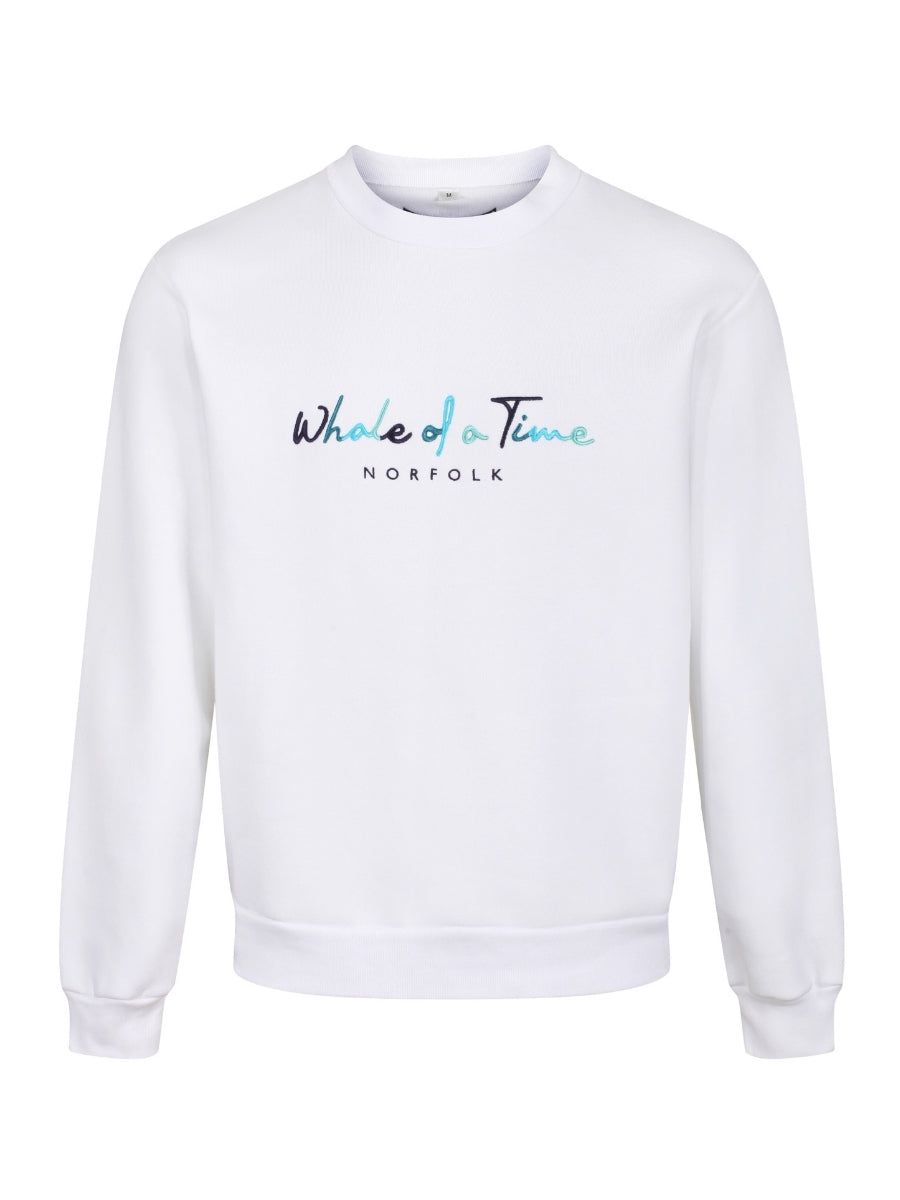 Basics Sweatshirt - White - Whale Of A Time Clothing