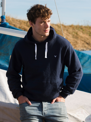 Whitesands Hoodie - Navy - Whale Of A Time Clothing