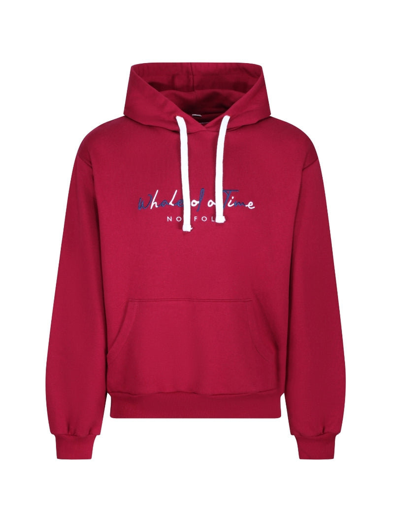 Basics Hoodie - Burgundy - Whale Of A Time Clothing