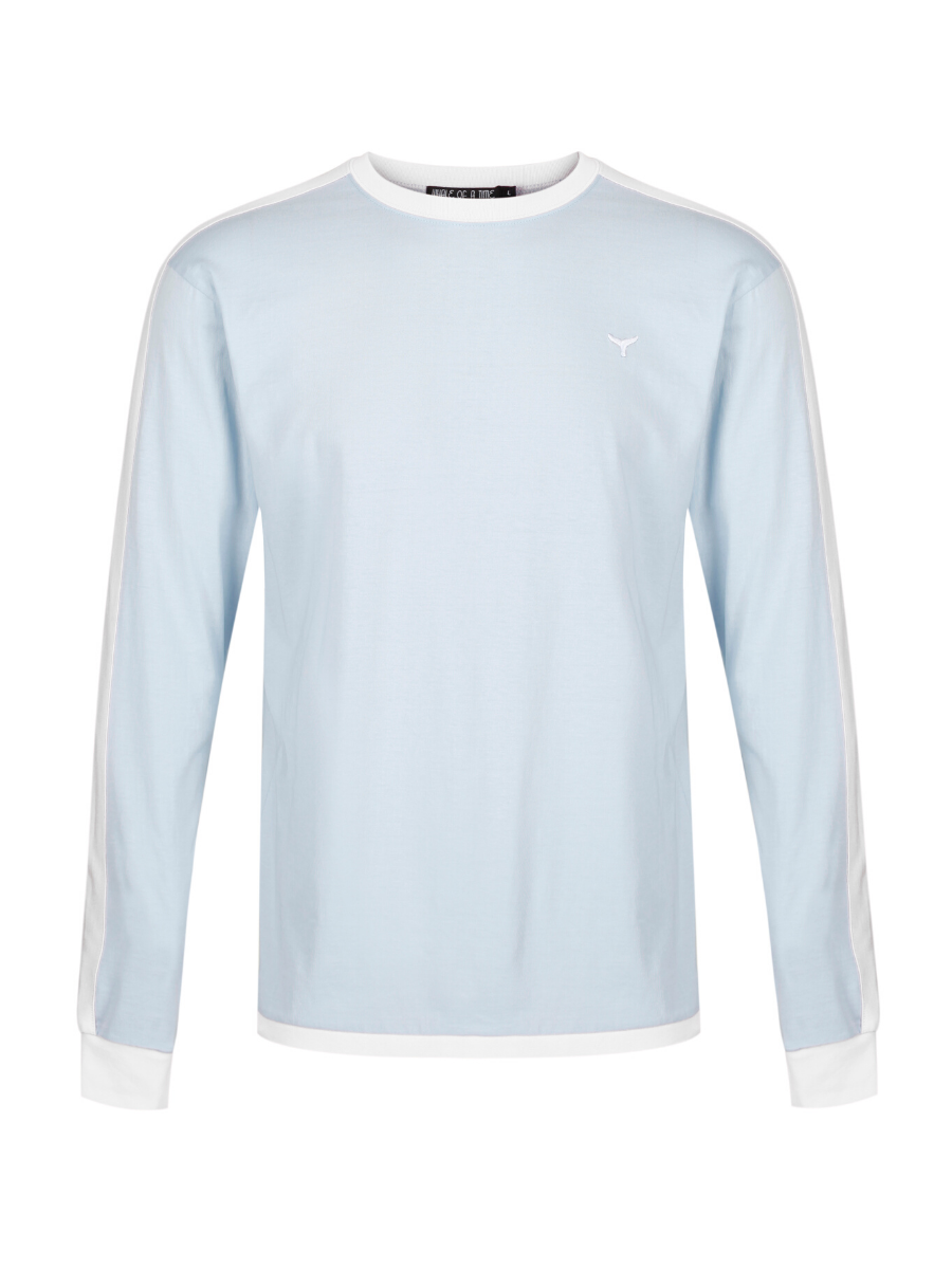 Holkham Long Sleeved T-Shirt - Blue/White - Whale Of A Time Clothing