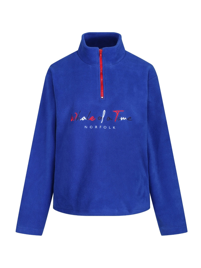 Basics Fleece Quarter Zips - Cobalt Blue - Whale Of A Time Clothing