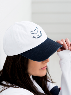 Stonewashed Cap White/Navy - Whale Of A Time Clothing