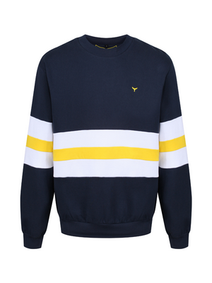 Sowerby Sweatshirt Navy/White/Yellow - Whale Of A Time Clothing