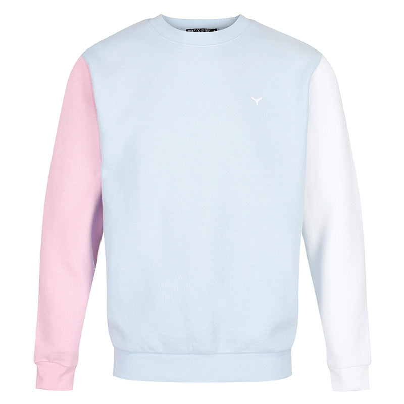 Arnoux Sweatshirt Pink/Blue/White - Whale Of A Time Clothing