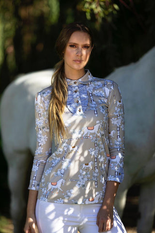 BIANCA SHOW SHIRT | HERDS TAUPE